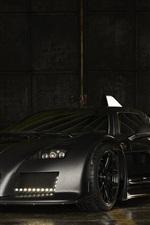 Preview iPhone wallpaper Gumpert Apollo black supercar, evening