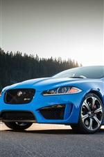 Preview iPhone wallpaper Jaguar XFR-S blue car