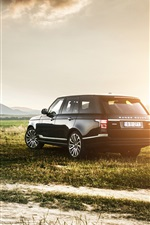 Preview iPhone wallpaper Land Rover Range Rover IV, SUV car, sunset