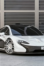 McLaren P1 white supercar front view