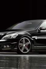 Preview iPhone wallpaper Mercedes-Benz black bison car side view