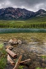 미리보기 iPhone 배경 화면 자연 풍경, 산, 하늘, 숲, 강