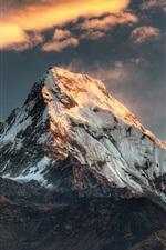 Poon Hill, Nepal, mountain, snow