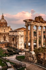 Preview iPhone wallpaper Roman Forum, Italy, ruins
