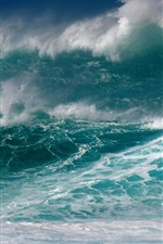 Preview iPhone wallpaper Sea, storm, waves, foam, sky