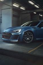 Preview iPhone wallpaper Subaru BRZ blue car