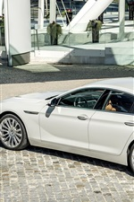 미리보기 iPhone 배경 화면 2015 BMW 650i 쿠페, 흰색 차