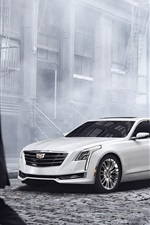 Preview iPhone wallpaper 2015 Cadillac CT6 white car