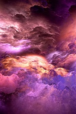 Preview iPhone wallpaper Abstract colors, unreal, clouds