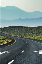 Preview iPhone wallpaper California Road, USA, curves, mountains