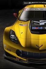Chevrolet Corvette C7-R race car front view