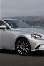 Preview iPhone wallpaper Lexus IS 50 silver car side view