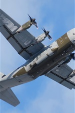 Preview iPhone wallpaper Lockheed Martin, C-130J, Super Hercules, military transport, plane, sky