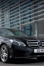 Preview iPhone wallpaper Mercedes-Benz E350 AMG black car