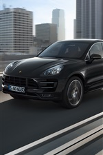 Preview iPhone wallpaper Porsche Macan 2014 black SUV car
