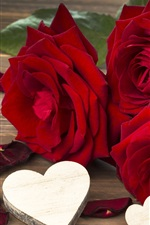 Preview iPhone wallpaper Red rose, flowers, love, Valentine's day