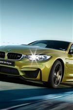 2015 BMW M4 F82 green car