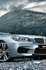 Preview iPhone wallpaper 2015 BMW M6 F06 silver car