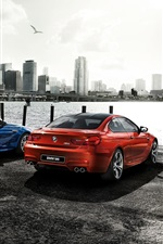 2015 BMW M6 coupe, orange blue cars