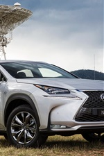 Preview iPhone wallpaper 2015 Lexus NX 200t silver car