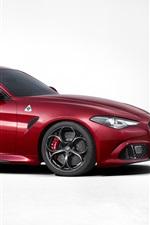 2016 Alfa Romeo Giulia Quadrifoglio 952 red supercar