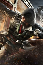 Preview iPhone wallpaper Assassin's Creed: Syndicate, action, train