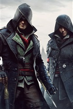 Preview iPhone wallpaper Assassin's Creed: Syndicate, city, fog