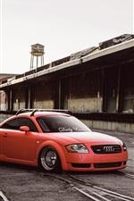Preview iPhone wallpaper Audi TT orange car