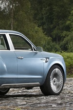 Preview iPhone wallpaper Bentley EXP 9 F concept blue SUV car