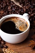 Coffee, beans, cloves, cinnamon, sunflower seeds
