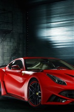 Preview iPhone wallpaper Ferrari F12 Berlinetta red supercar
