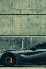 Preview iPhone wallpaper Ferrari F12 Berlinetta supercar