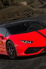 Preview iPhone wallpaper Lamborghini Huracan, red supercar