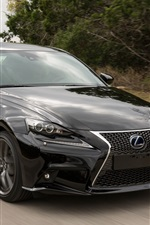 Preview iPhone wallpaper Lexus IS 300H black car