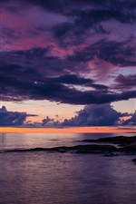 Preview iPhone wallpaper Lillesand, sea, clouds, dusk