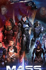 Preview iPhone wallpaper Mass Effect, game HD
