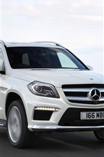 Preview iPhone wallpaper Mercedes-Benz GL 350 AMG car speed