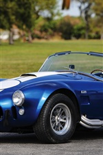 Preview iPhone wallpaper 1967 Shelby Cobra 427 SC, Ford blue car