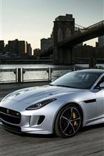 iPhone fondos de pantalla 2015 Jaguar F-Type R coche de plata
