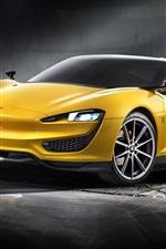 iPhone fondos de pantalla 2015 Magna Steyr coche amarillo