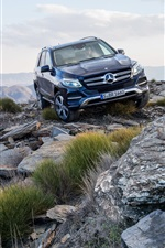 Preview iPhone wallpaper 2015 Mercedes-Benz GLE-class W166 SUV car