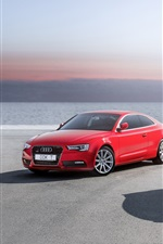 Preview iPhone wallpaper Audi RS5, A5, red black cars