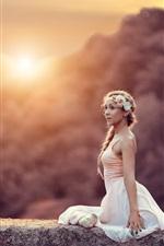 Preview iPhone wallpaper Ballerina, girl, sun