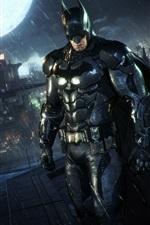 Preview iPhone wallpaper Batman: Arkham Knight, rain, night