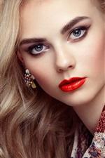 Preview iPhone wallpaper Beautiful girl, sensual woman, fashion