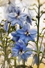 Blue white flowers, texture