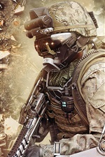 Preview iPhone wallpaper Call of Duty: Advanced Warfare, soldier and equipment
