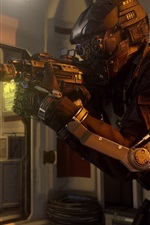Preview iPhone wallpaper Call of Duty: Advanced Warfare, soldier with guns
