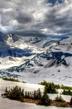 Preview iPhone wallpaper Canada, Banff Park, winter, mountains, snow, trees