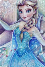 Preview iPhone wallpaper Cold, Frozen, Disney movie, Elsa